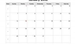 Word 2018 Calendar Templates Free Flash Design