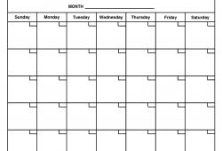 Free Word Document Calendar Template