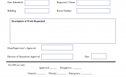 Work Request Form Maintenance Work Order Request Form Work