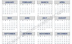 Yearly 2019 Calendar Pdf 12 Month 2019 Calendar Printable