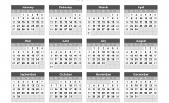 Yearly Calendar 2019 Free Printable 2019 Calendar Templates