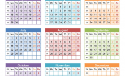 Yearly Calendar 2019 Template With France Holidays Free Public