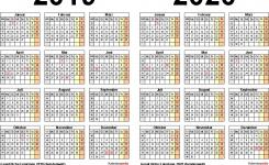 Zweijahreskalender 2019 2020 Als Pdf Vorlagen Zum Ausdrucken