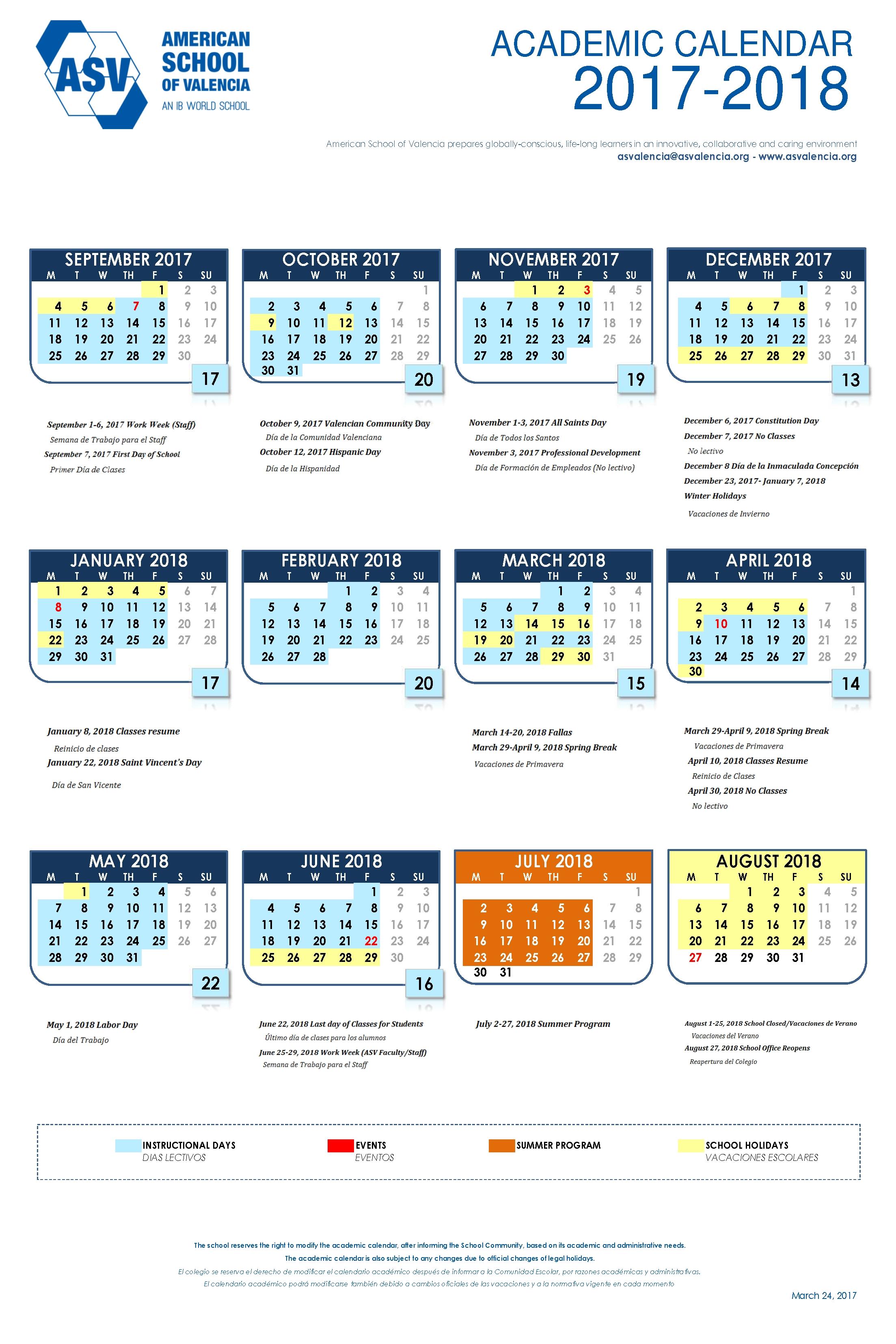 Valencia College Calendar