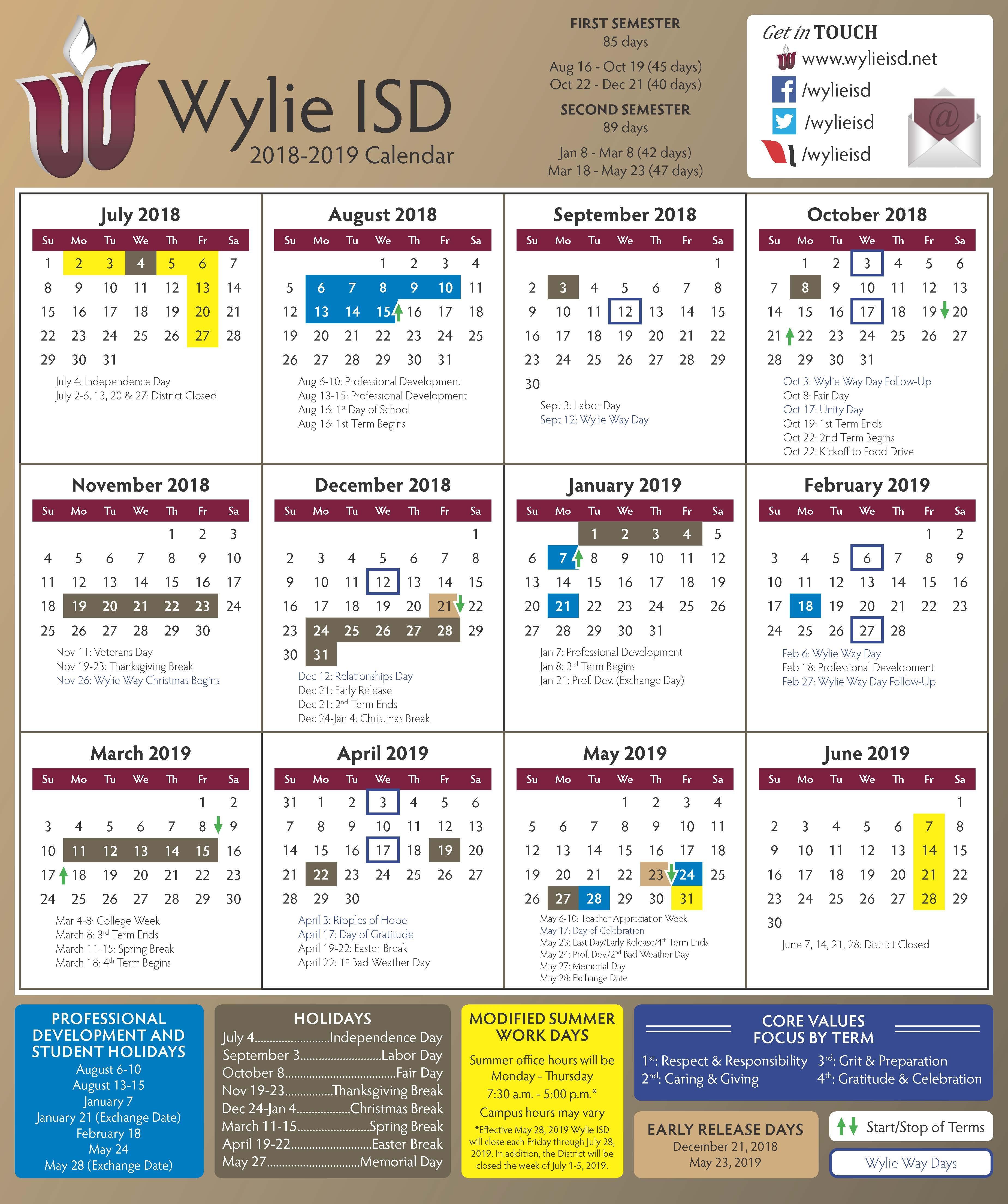 Wylie Isd Calendar