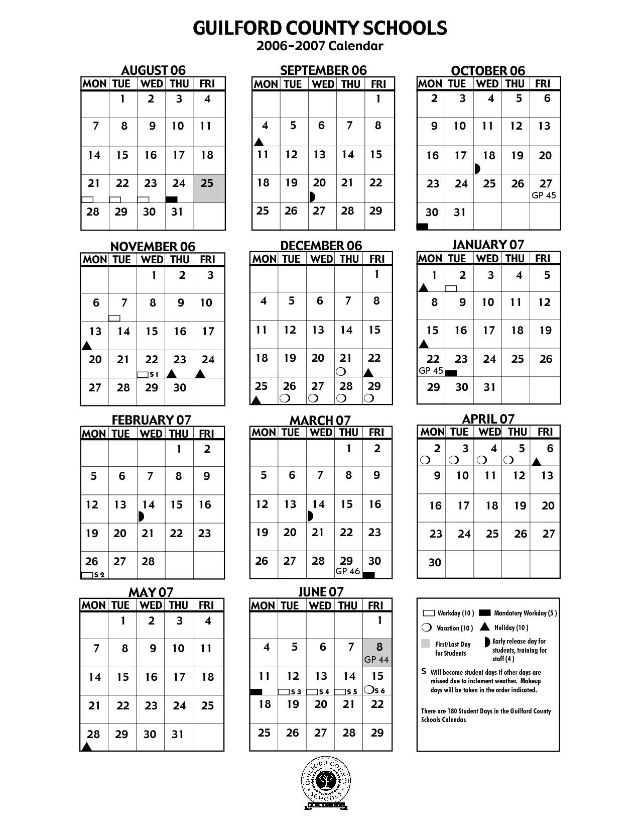 Guilford County Schools Calendar