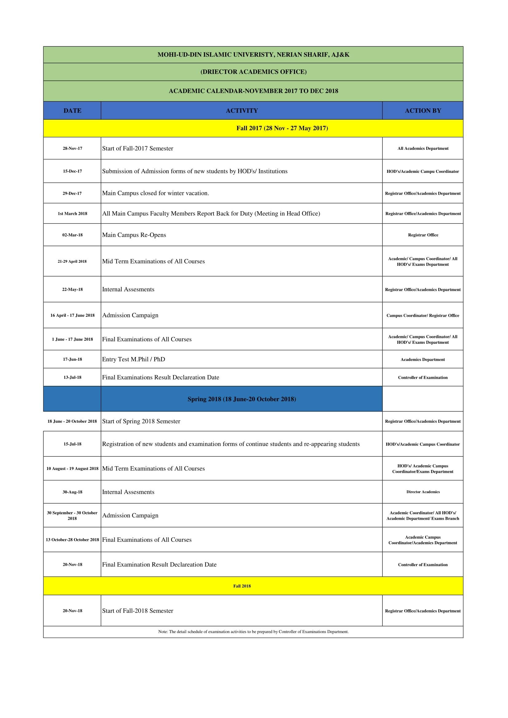 Ud Academic Calendar