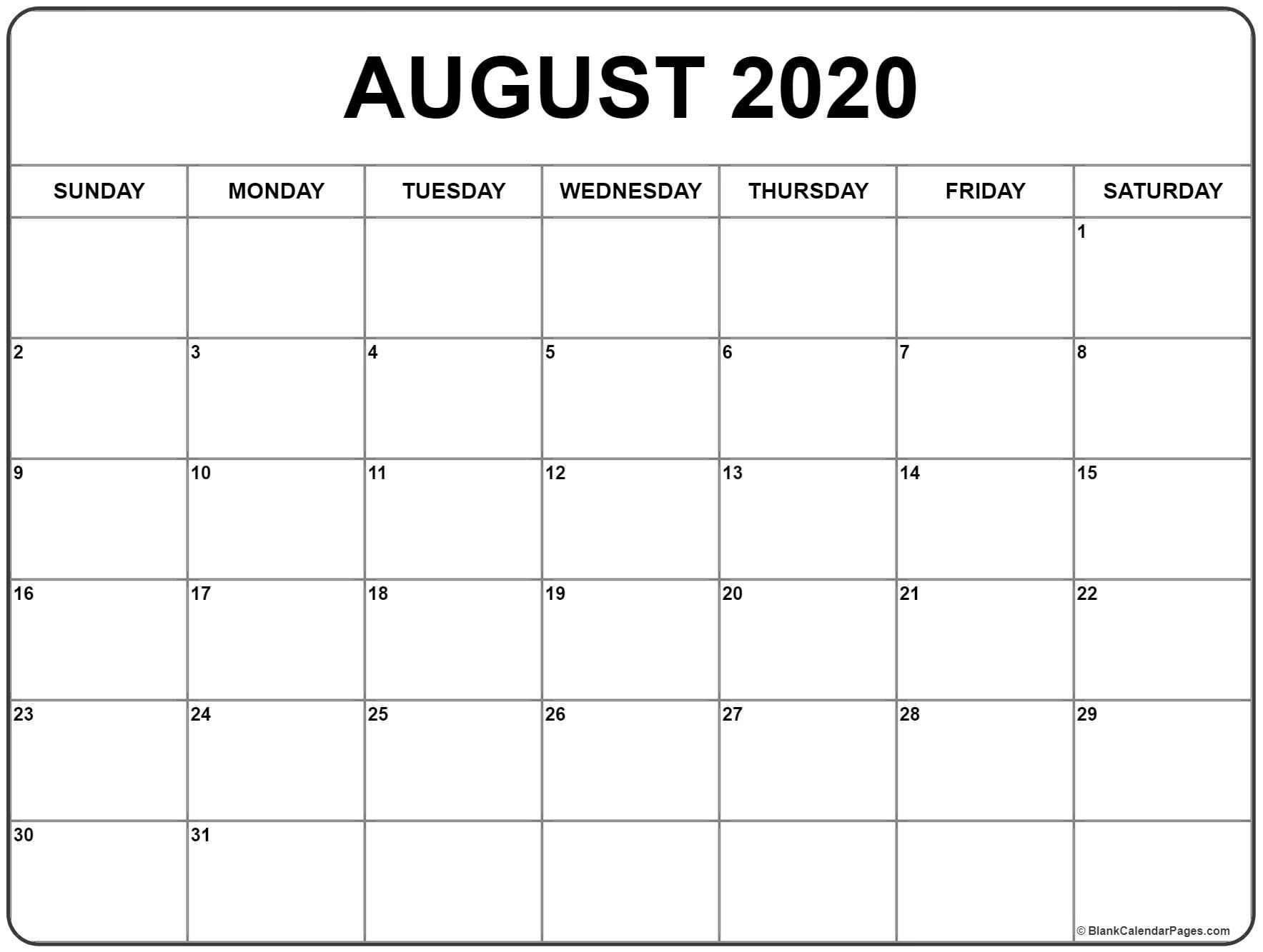 August00 Calendar