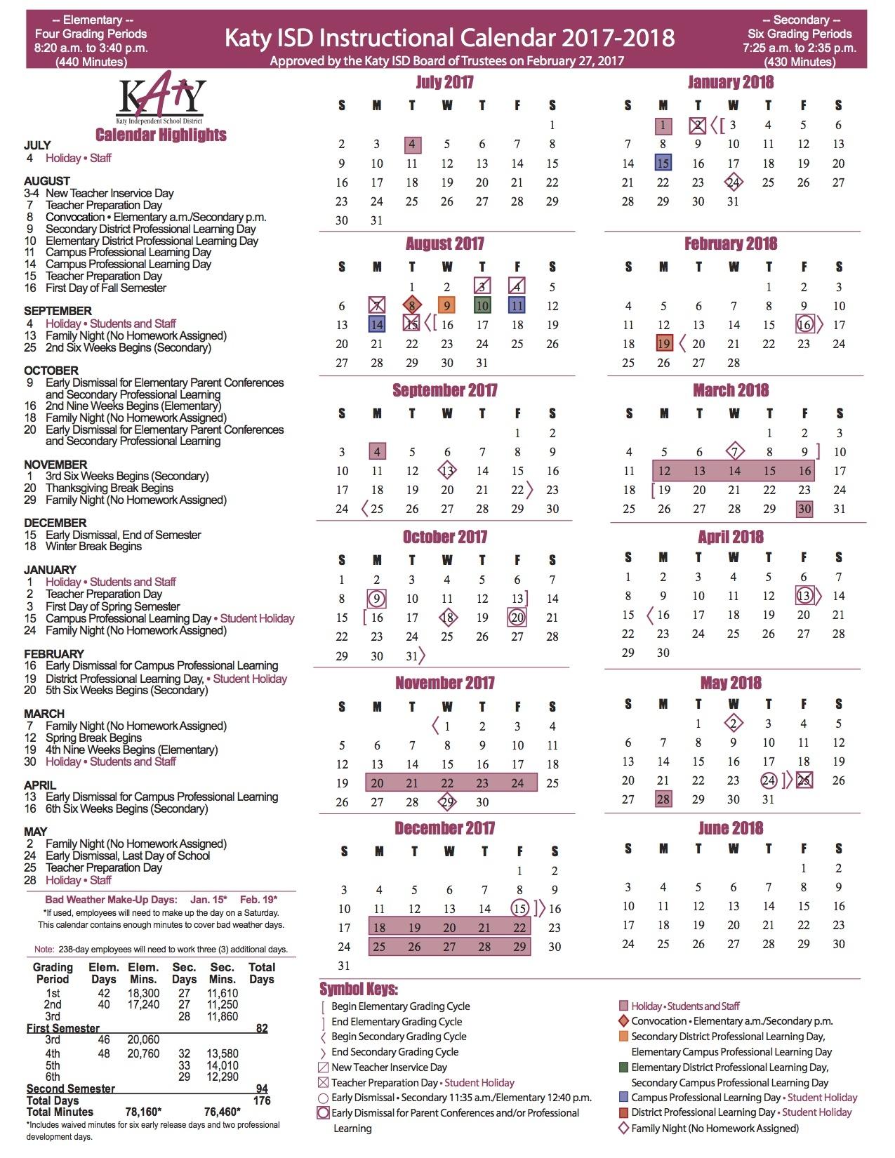 Katyisd Calendar 2022.K A T Y I S D H O L I D A Y C A L E N D A R Zonealarm Results