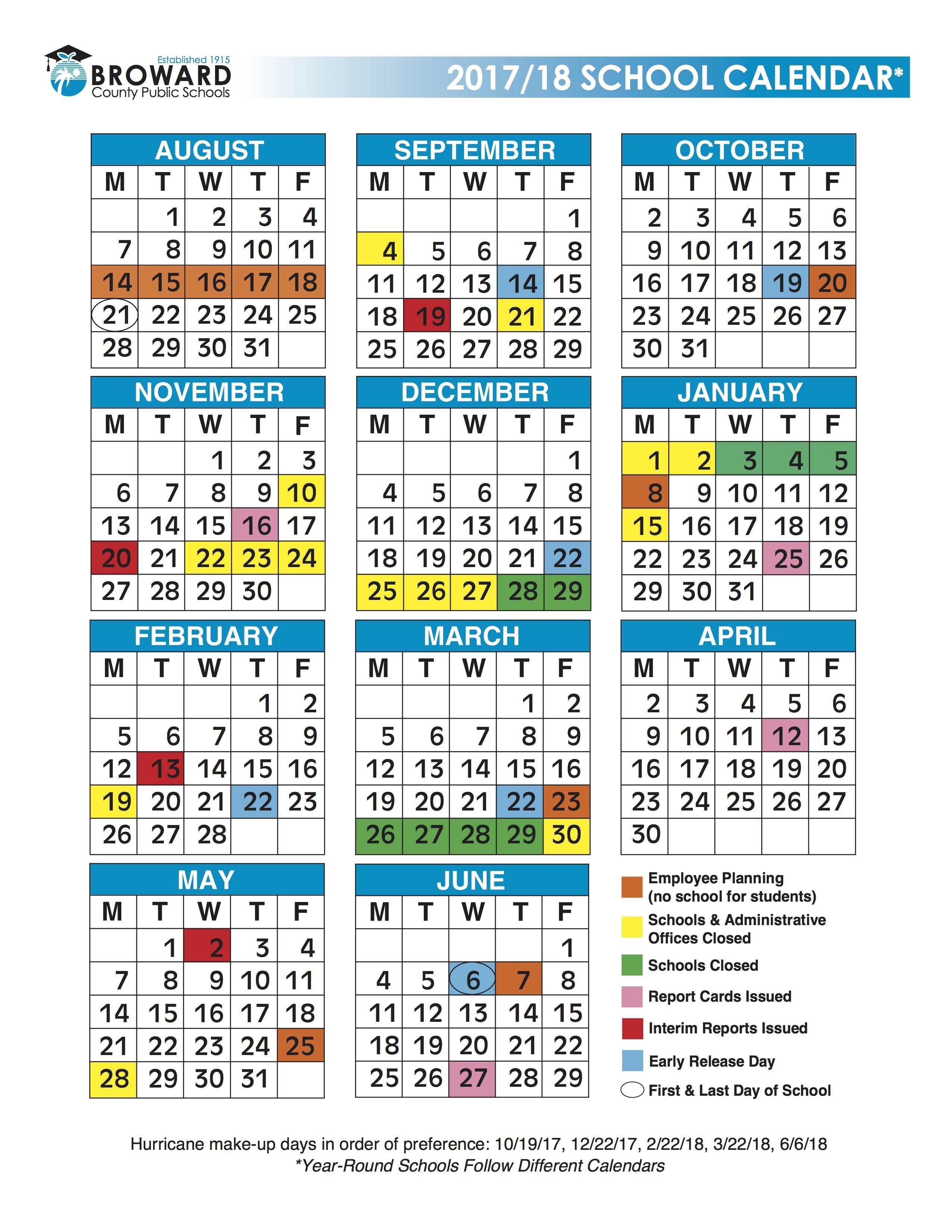 Broward Schools Calendar