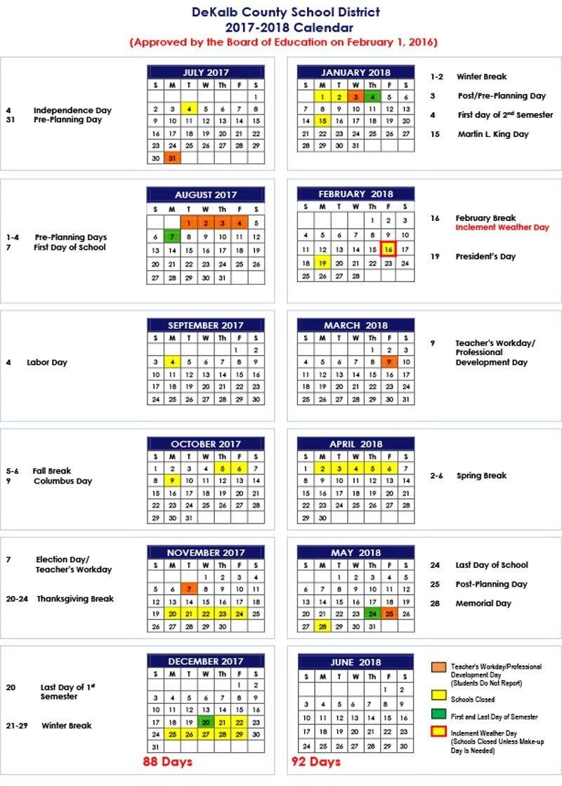 Dekalb County School Calendar