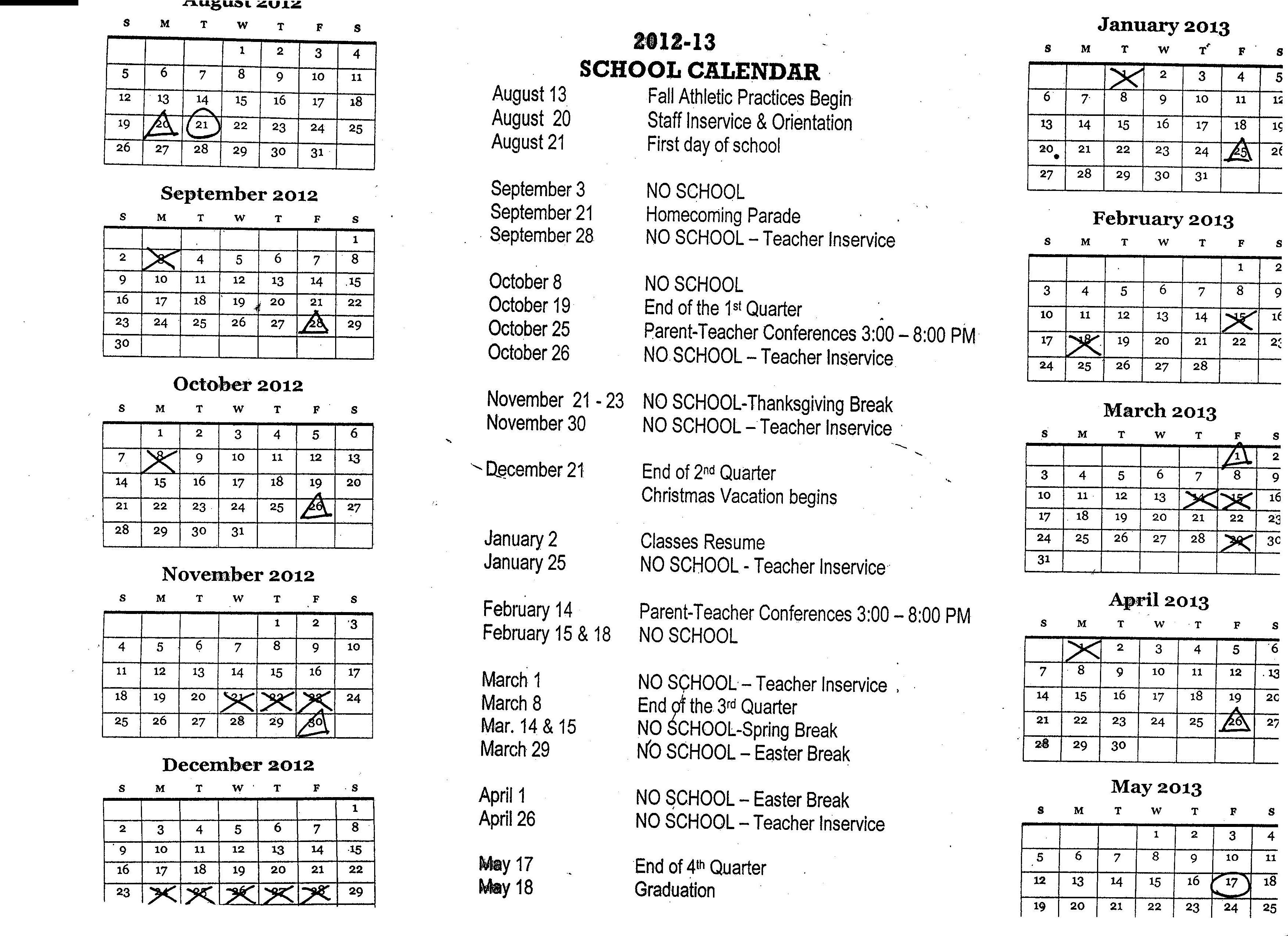 Sioux Falls School District Calendar