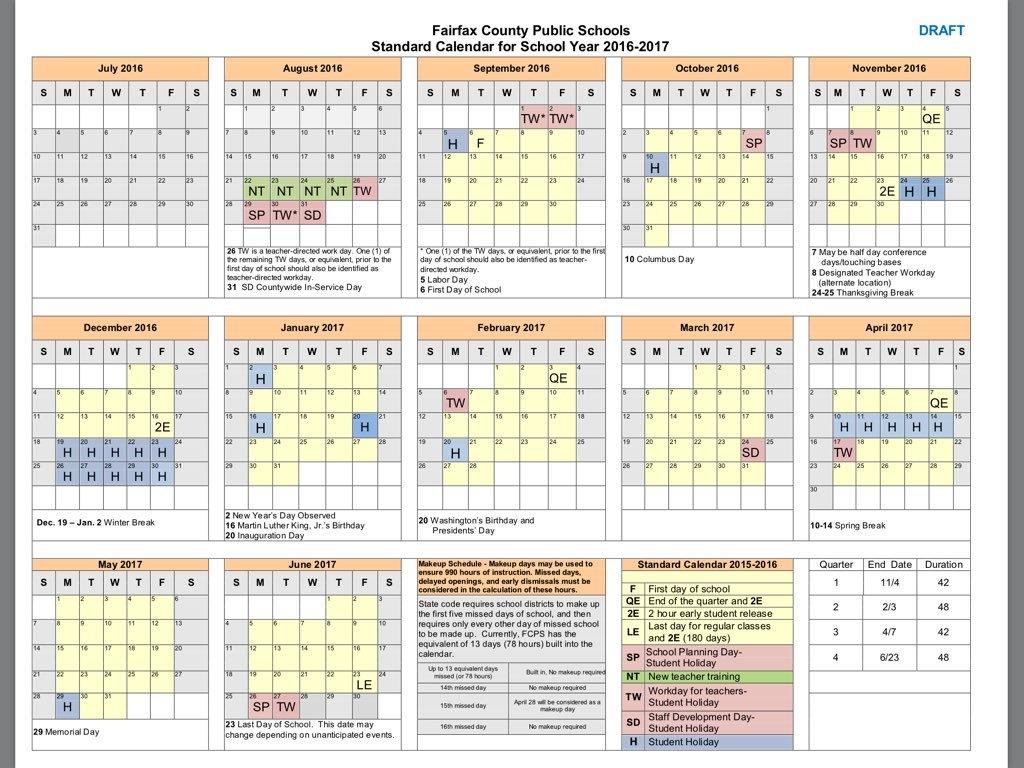 Fcps Calendar 2019