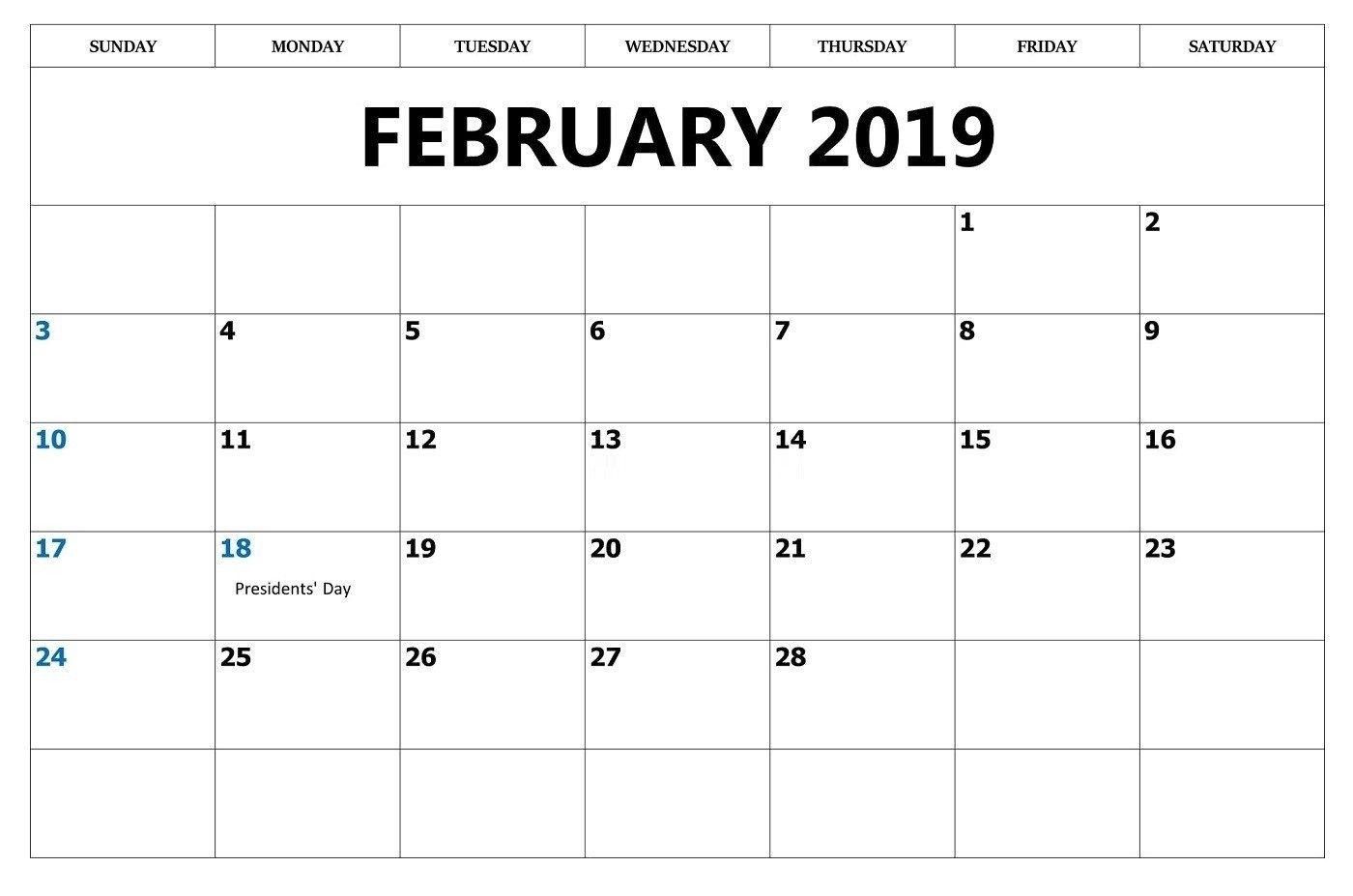 Feb 2019 Holidays