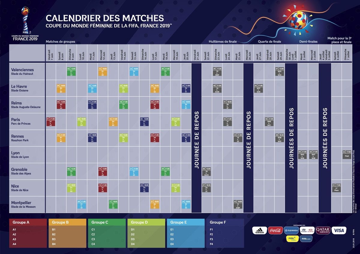 Fifa 2019 Calendar