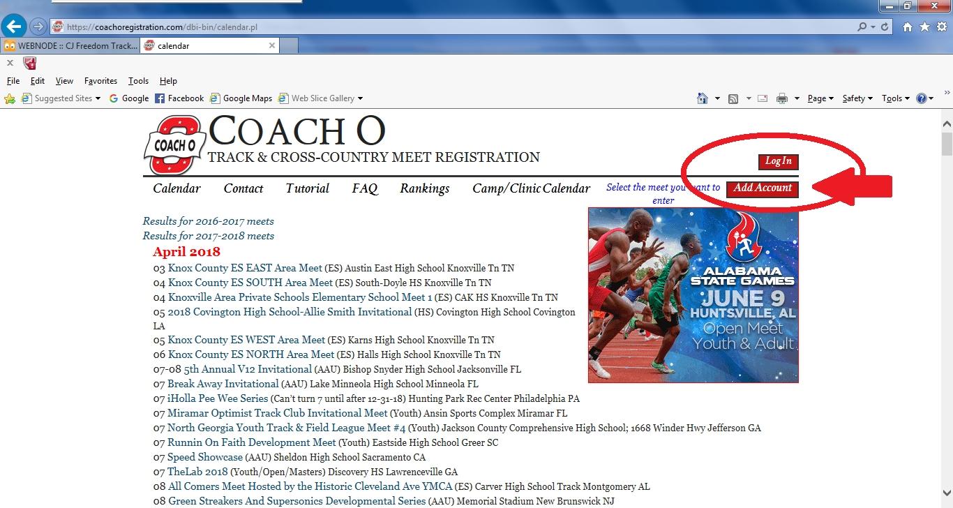 Coach O Calendar