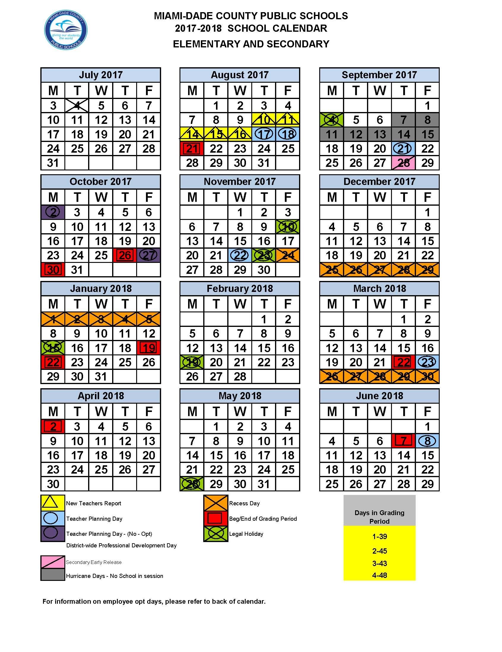 Miami Dade School Calendar0