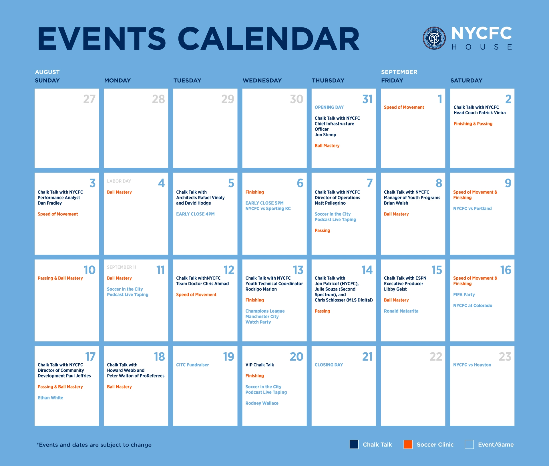 New York Events Calendar