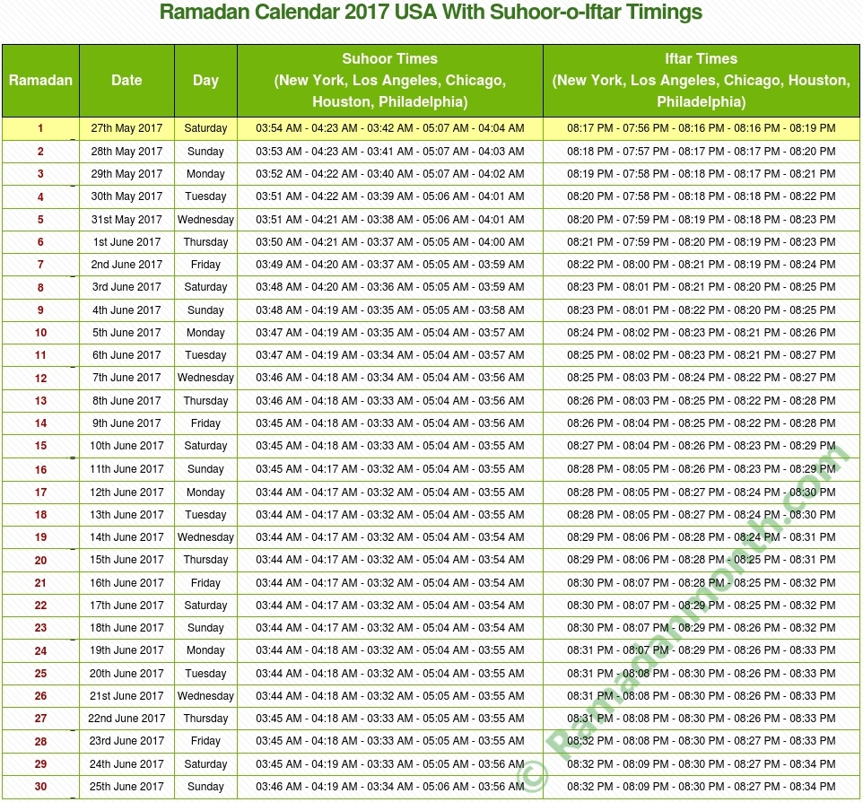 Ramadan Calendar 2017 Usa Cheap Umrah Package