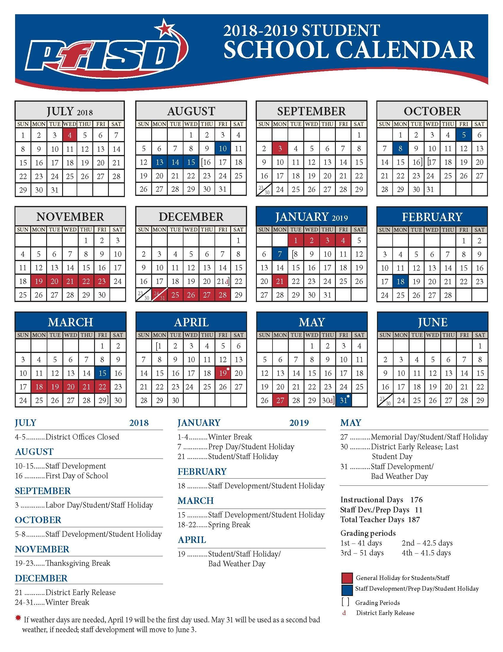 Pflugerville Isd Calendar