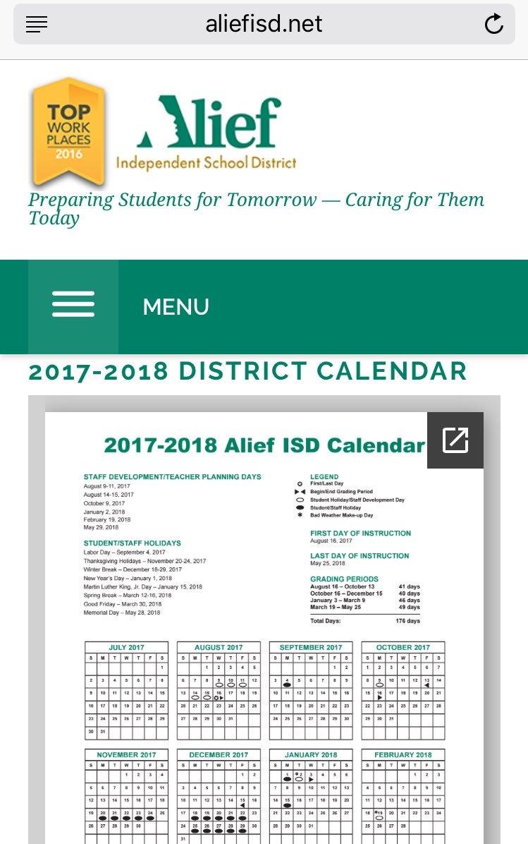 Alief Isd Calendar