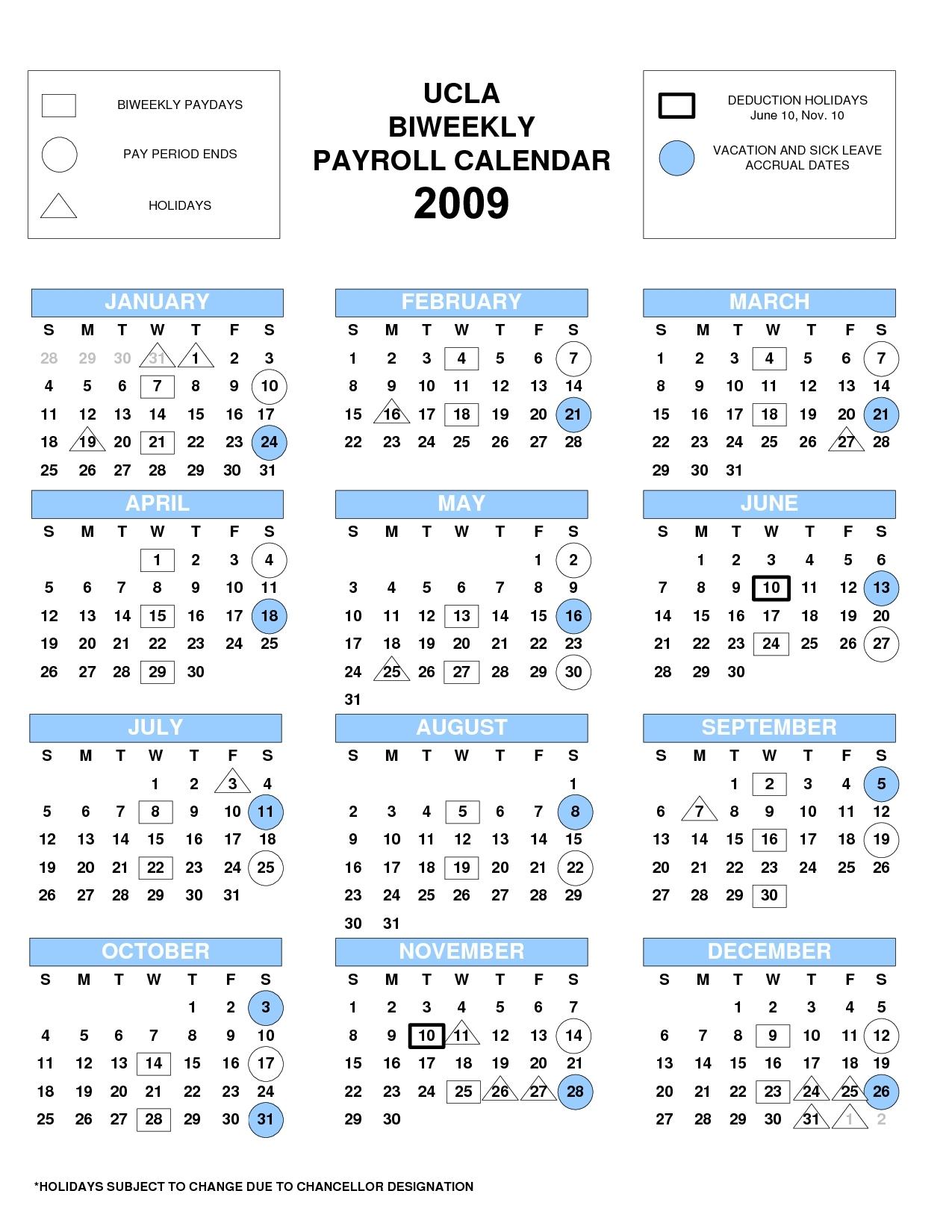 Ucla Calendar 2019