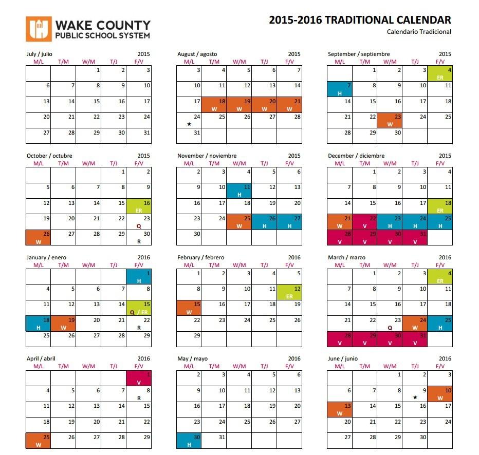 Wake County Calendar