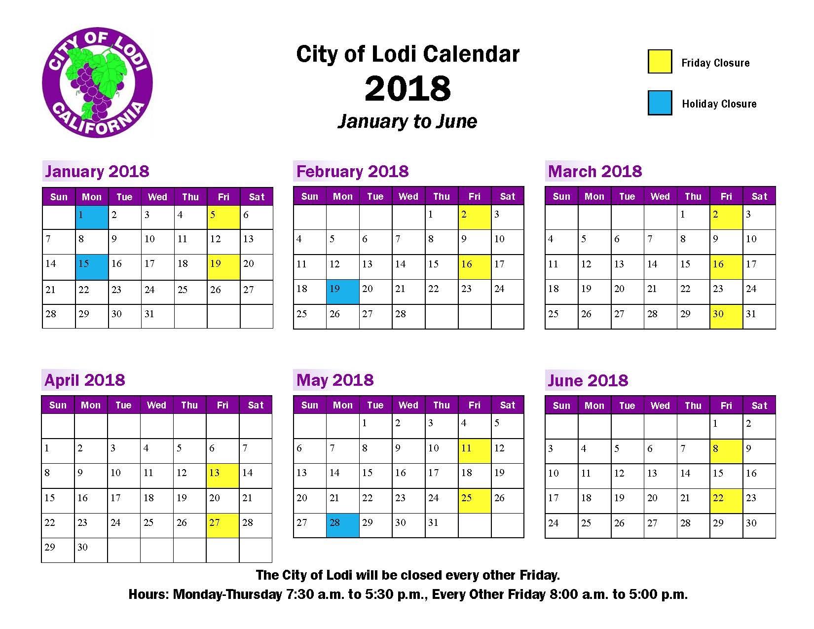 Lodi Unified School District Calendar