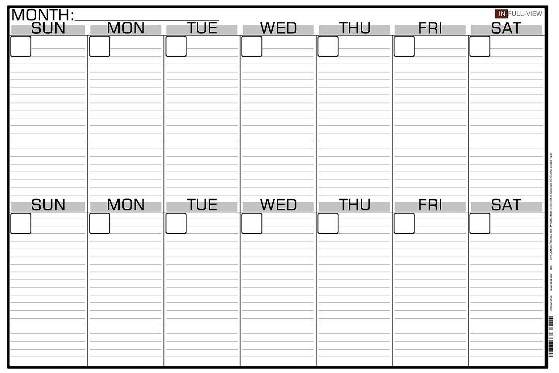 2 week calendar printable