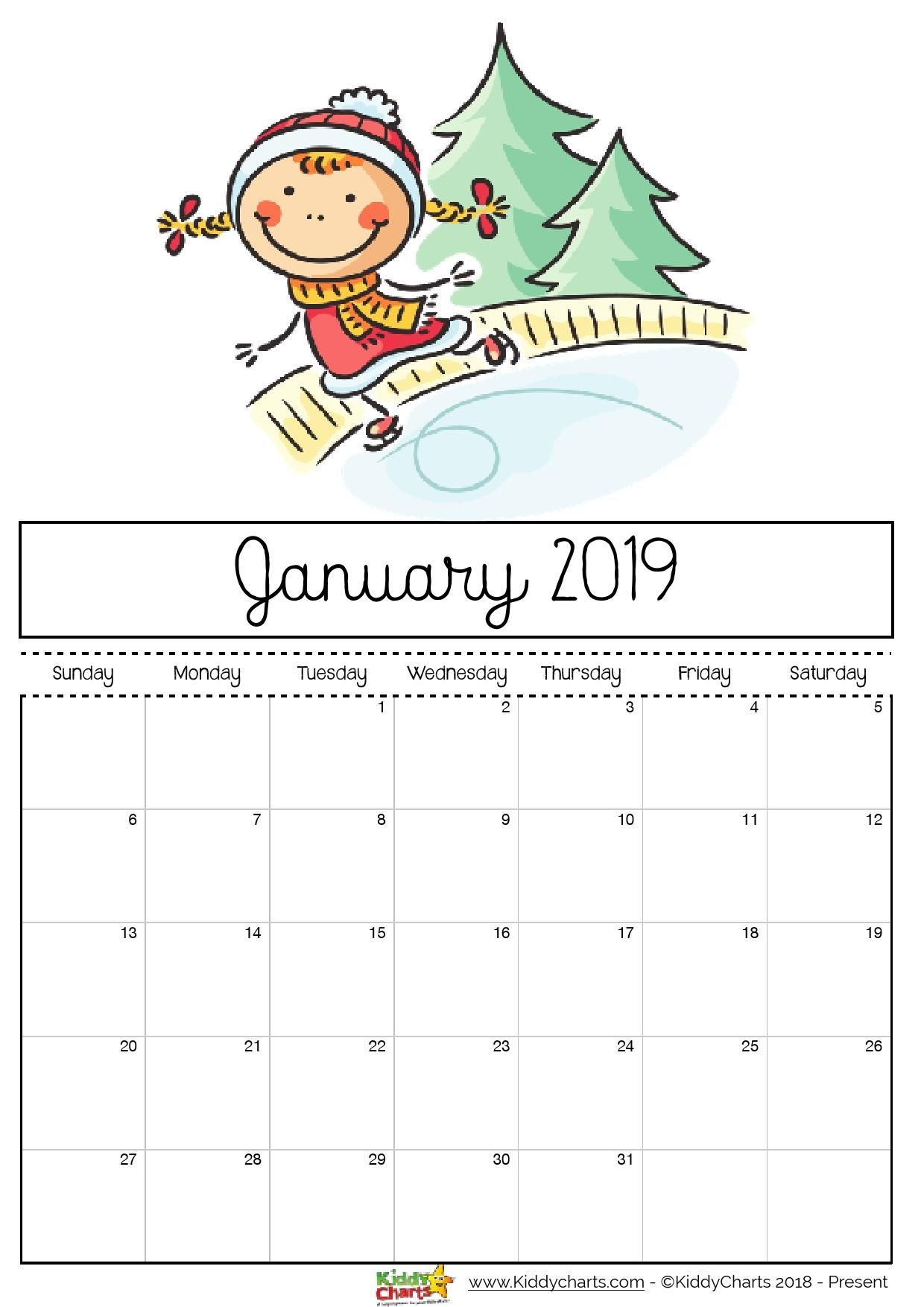 Free Printable Calendars For Kids