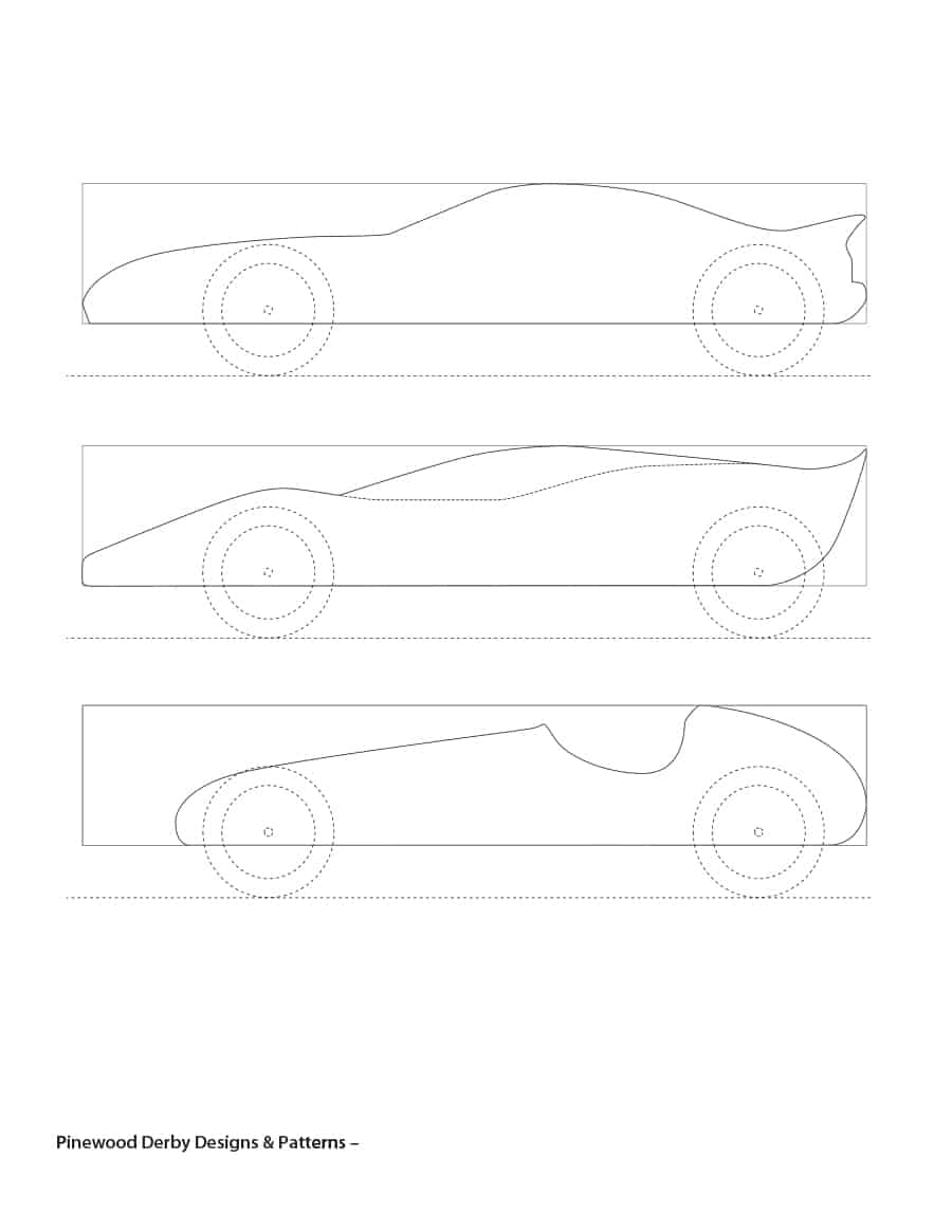 Pinewood Derby Design Templates Free