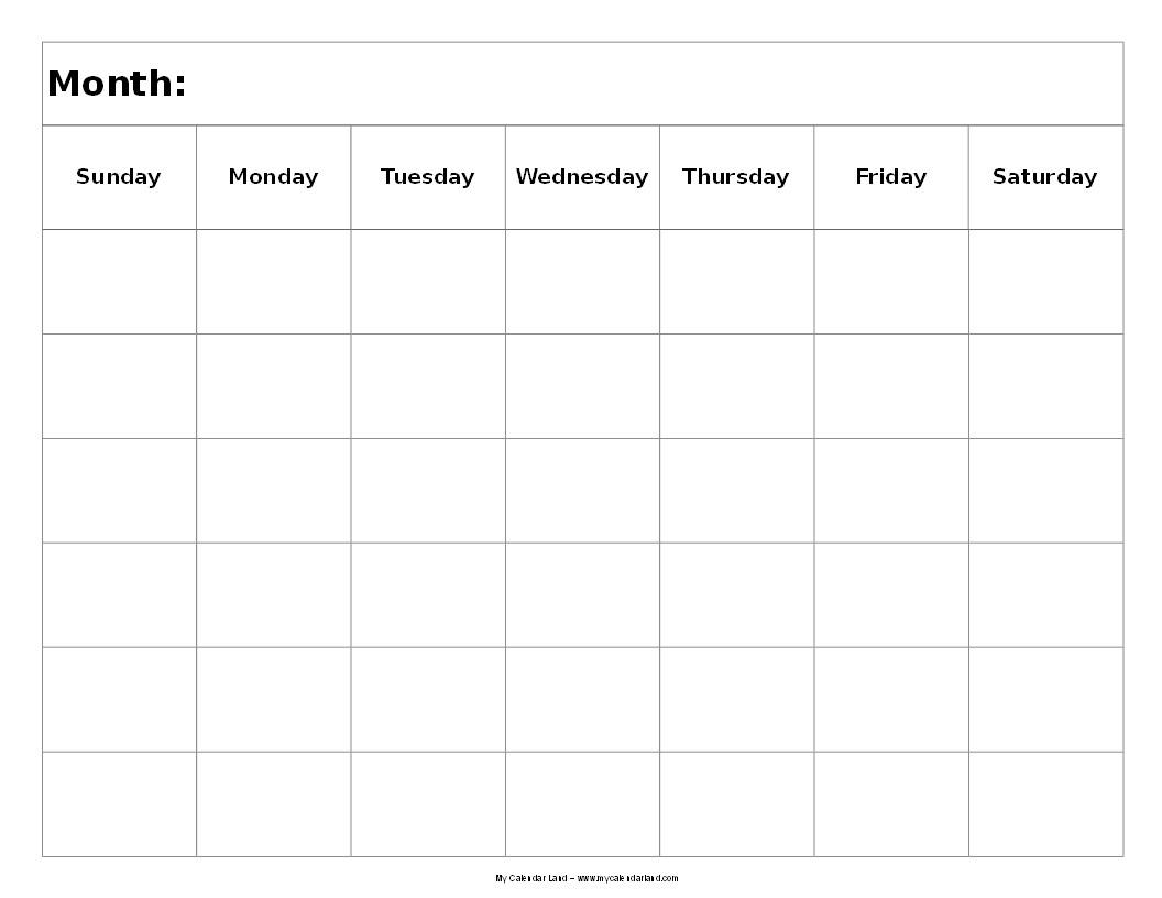6 Week Printable Calendar