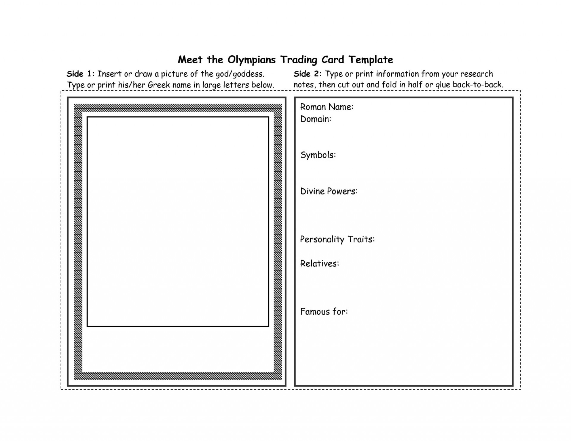 Free Trading Card Templates