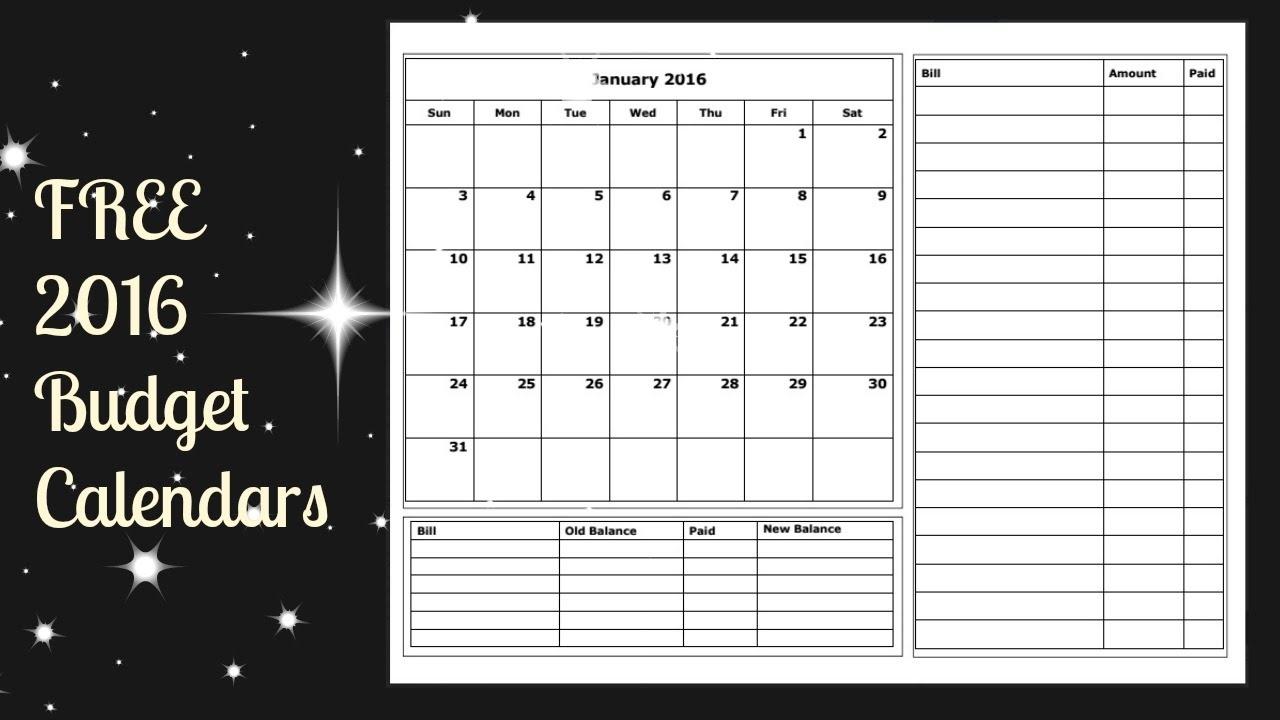 Budget Calendars Printable Ukranexpolicenciaslatamco