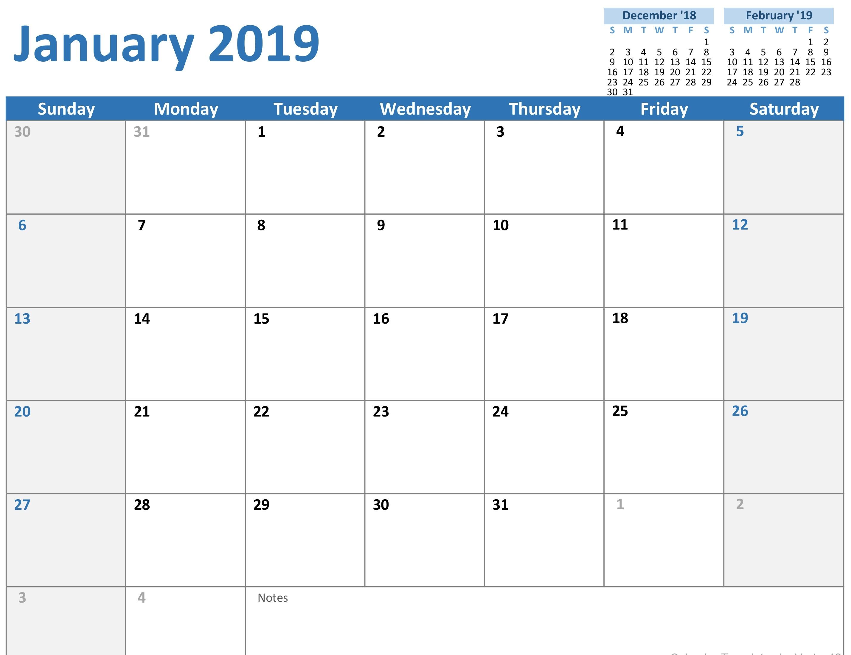 Office Templates Calendar
