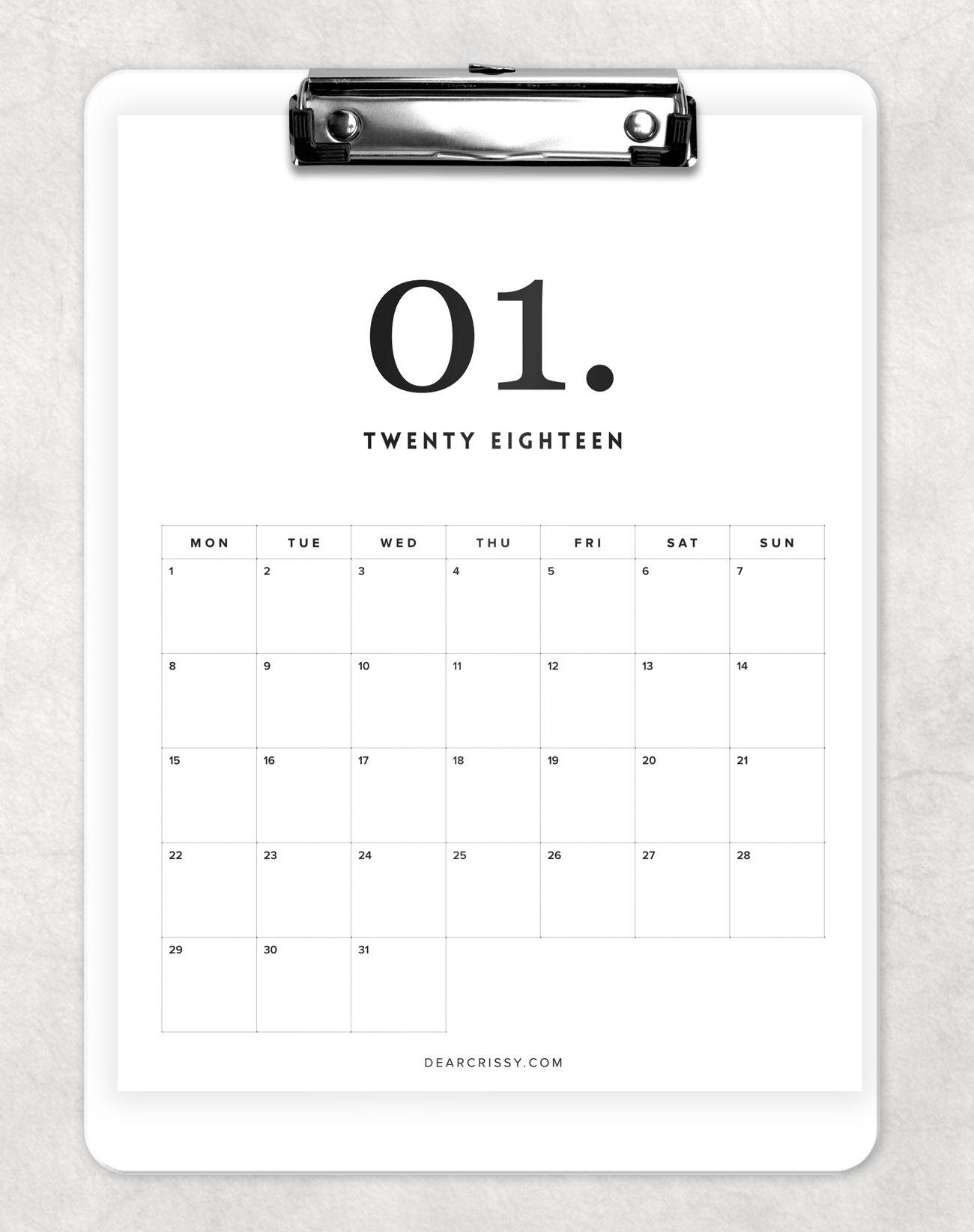 Printable Calendar Design