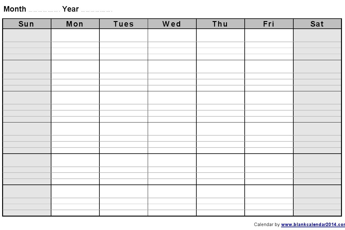 free printable calendar with lines to write on