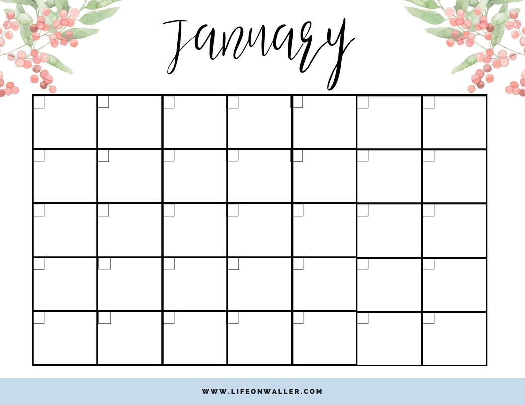 Free Printable Fill In Calendar