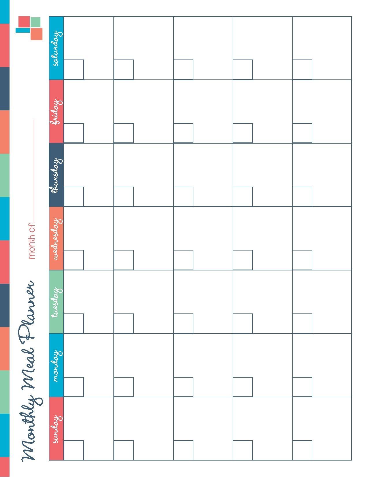 Planning Calendar Printable