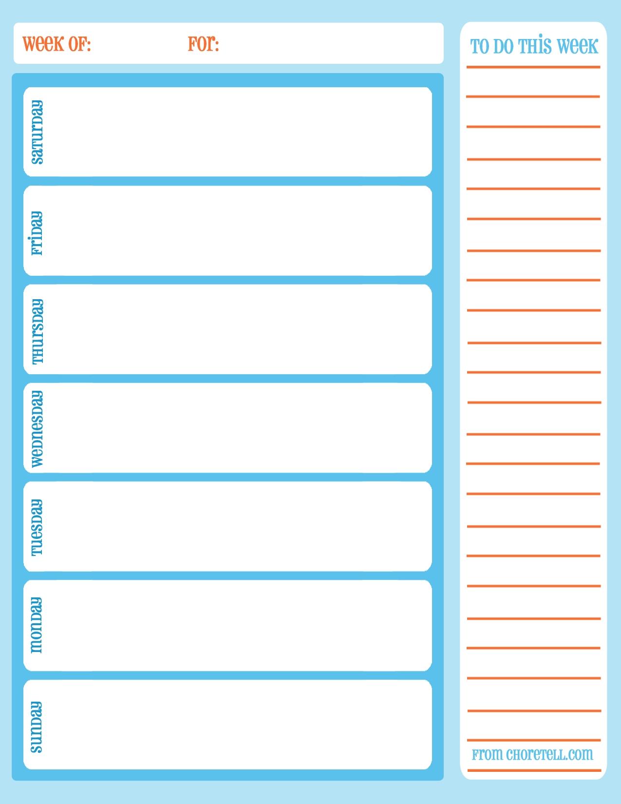 To Do Calendar Printable