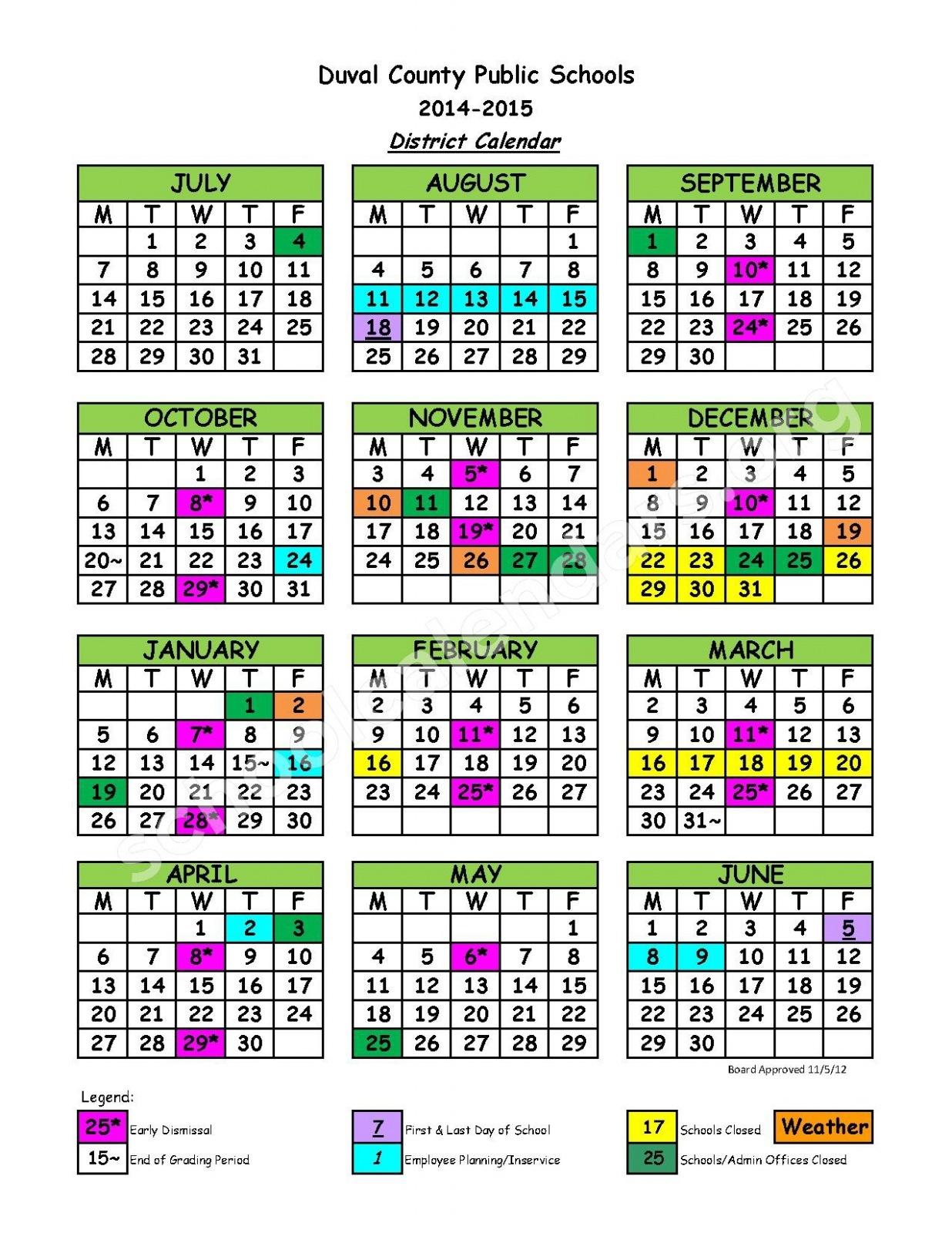 Duval Schools Calendar