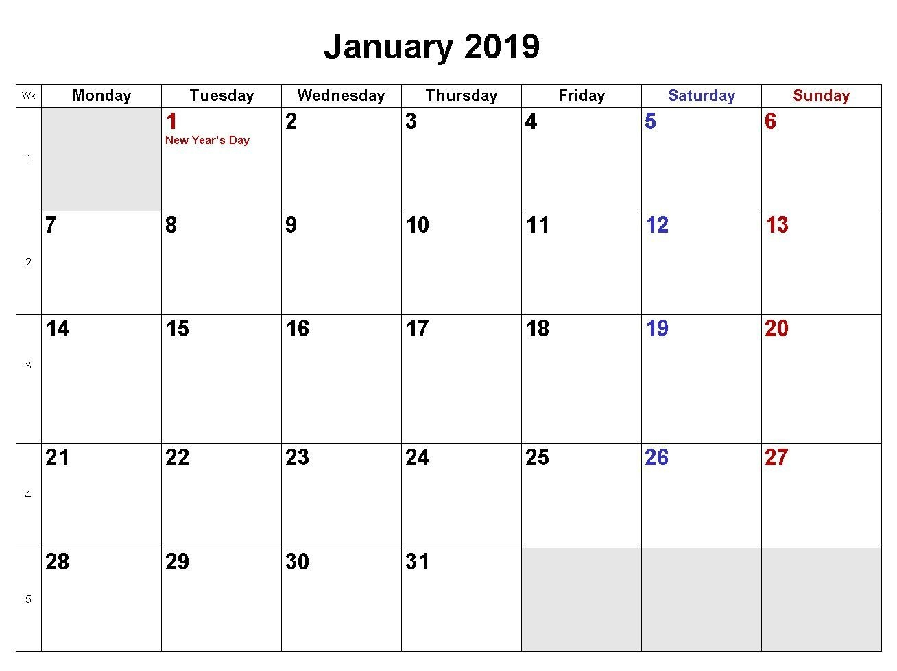Free Printable Calendar Word