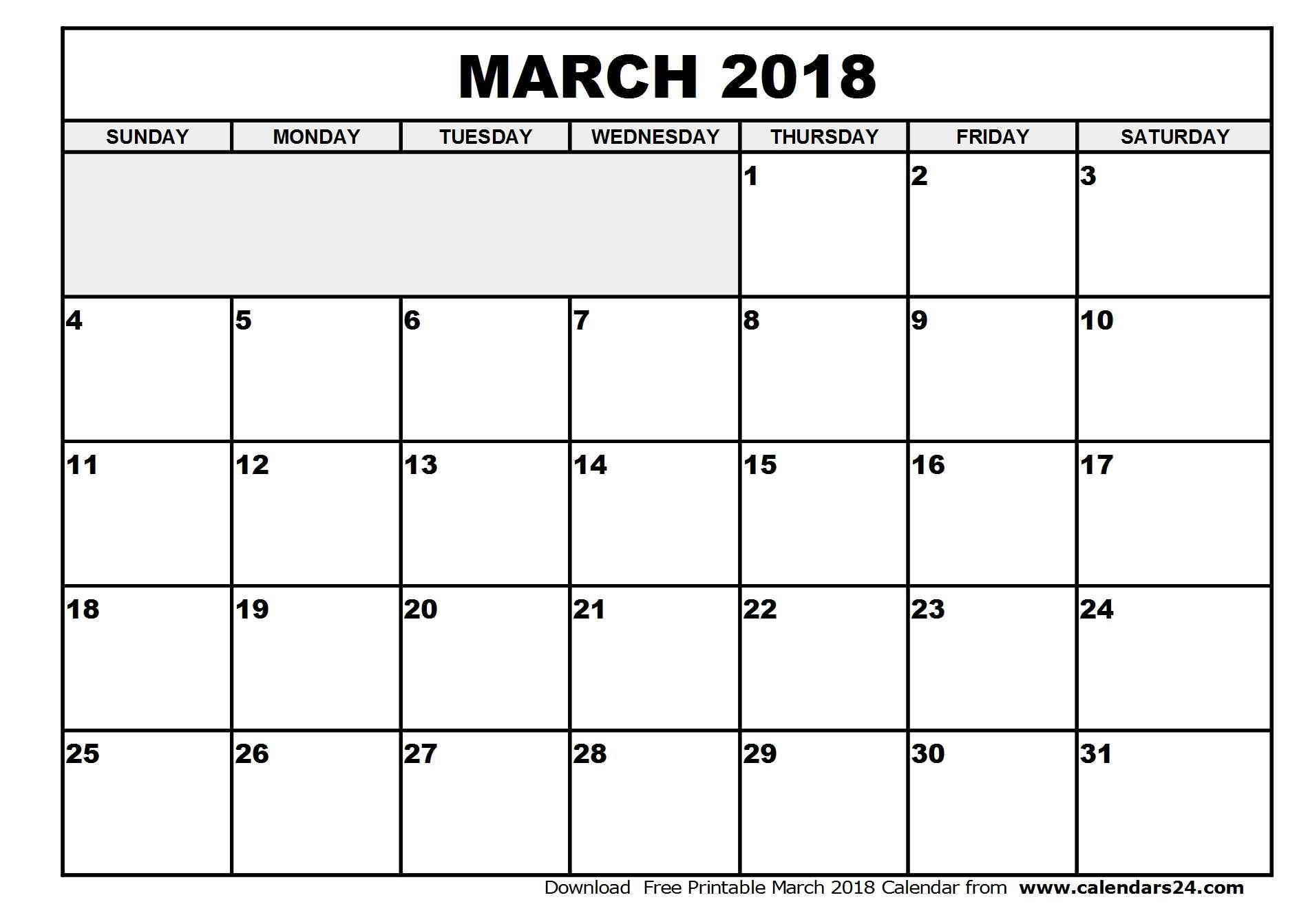 March Printable Calendar 2017 Pdf Printable Calendar Birthday Cards
