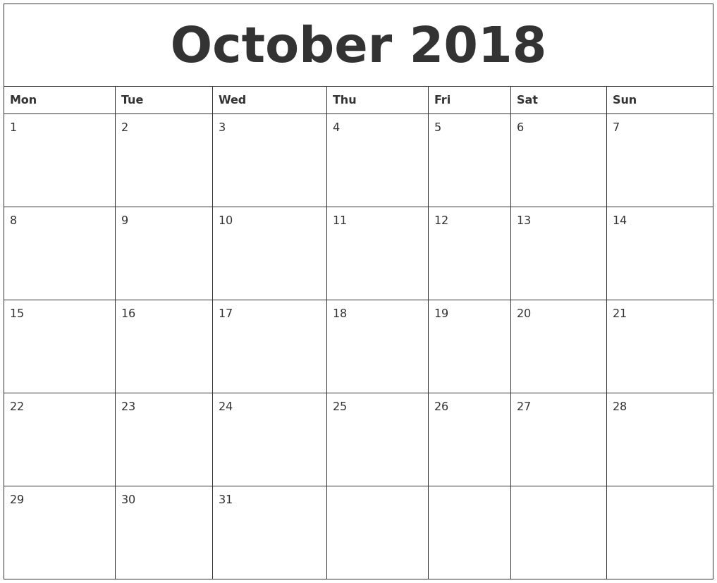 Word Printable Calendar