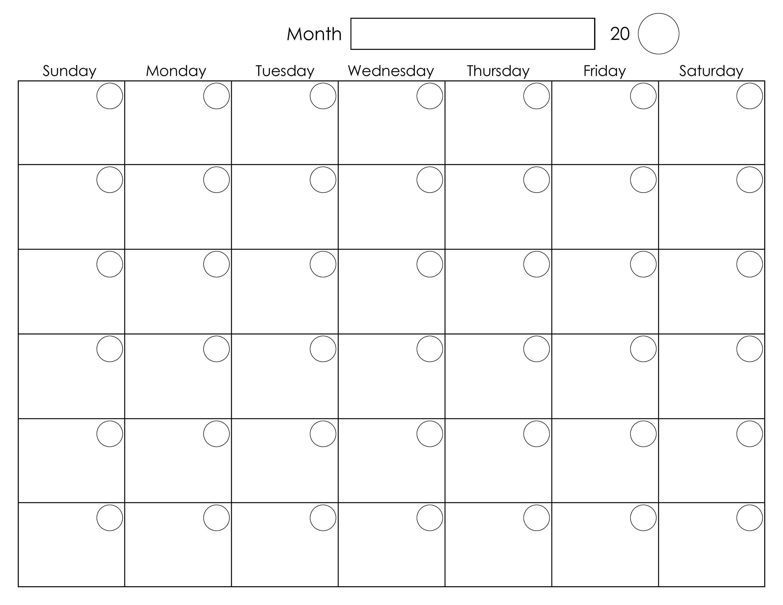 Printable Monthly Planner Calendar
