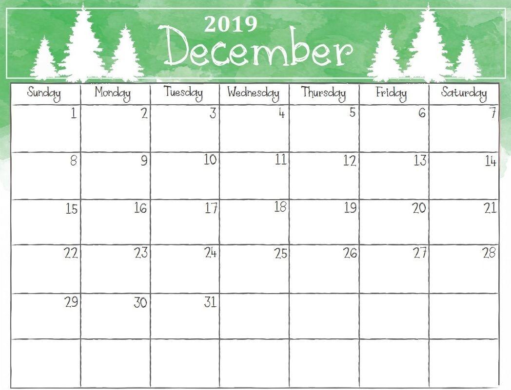 Printable Christmas Calendar 2019