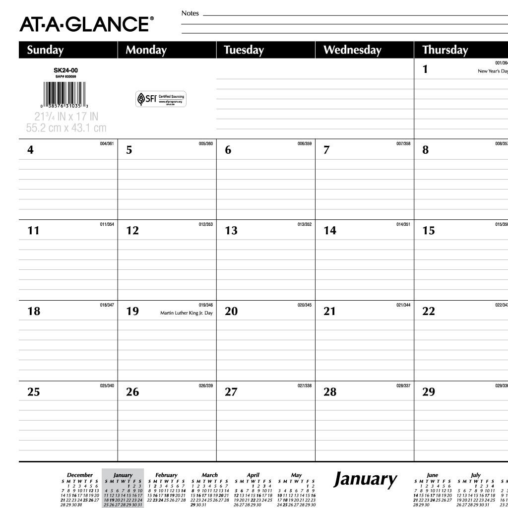 Printable Lined Calendar