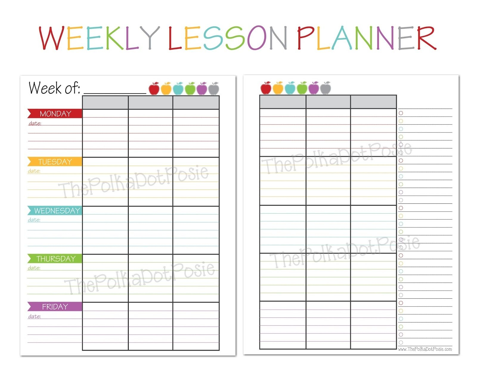 Free Printable Teacher Calendar