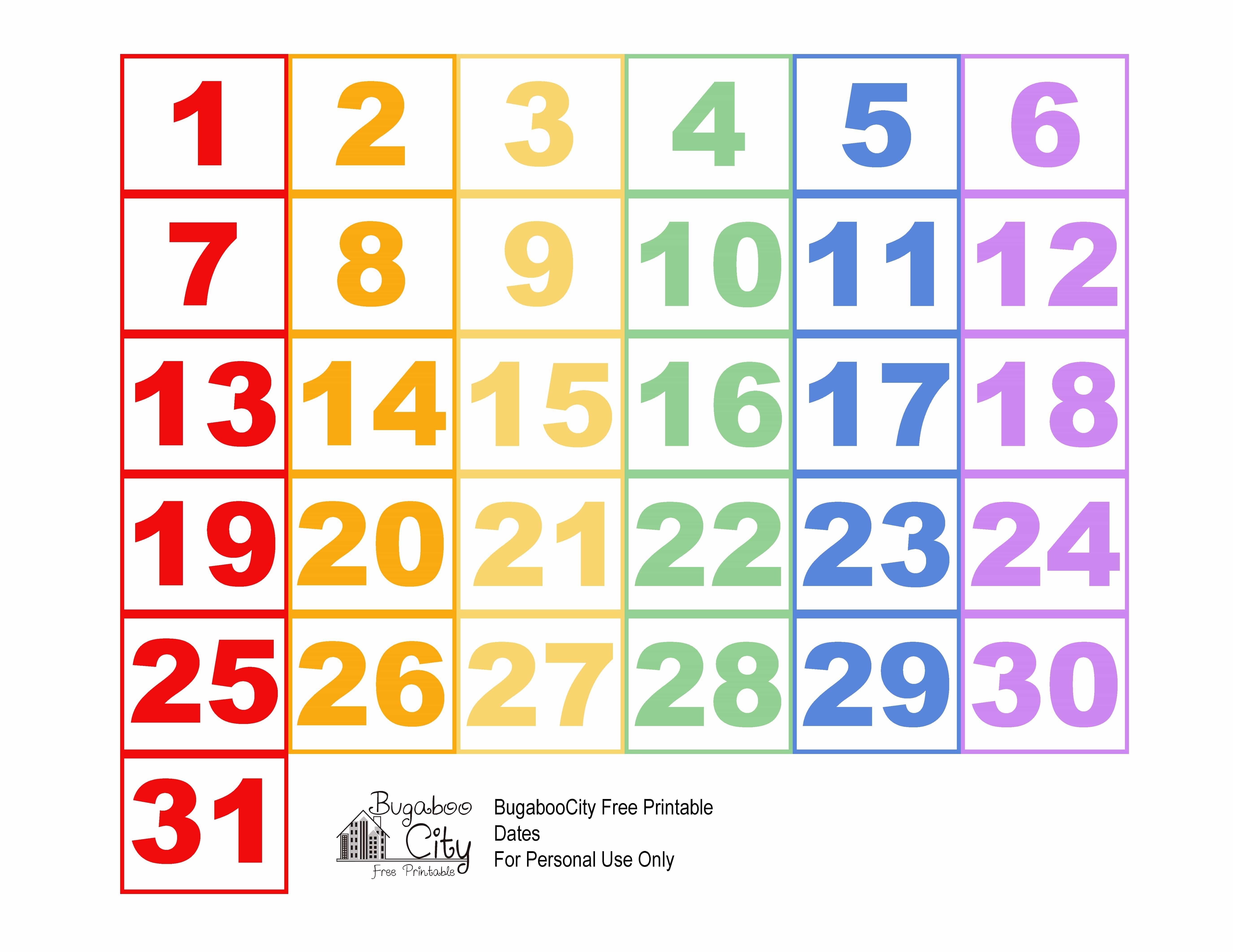 Printable Calendar Pieces | Qualads