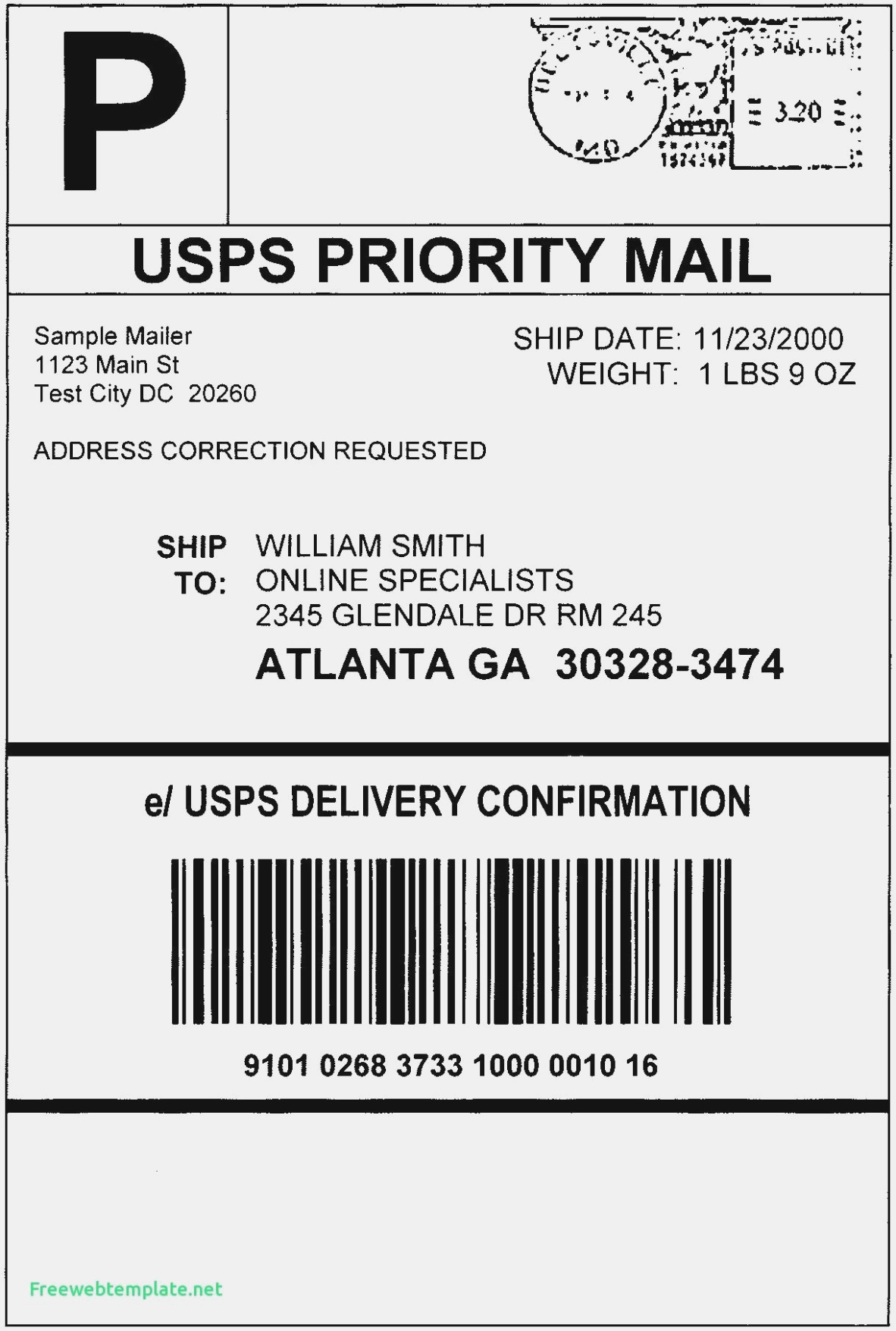 Shipping Label Template Word